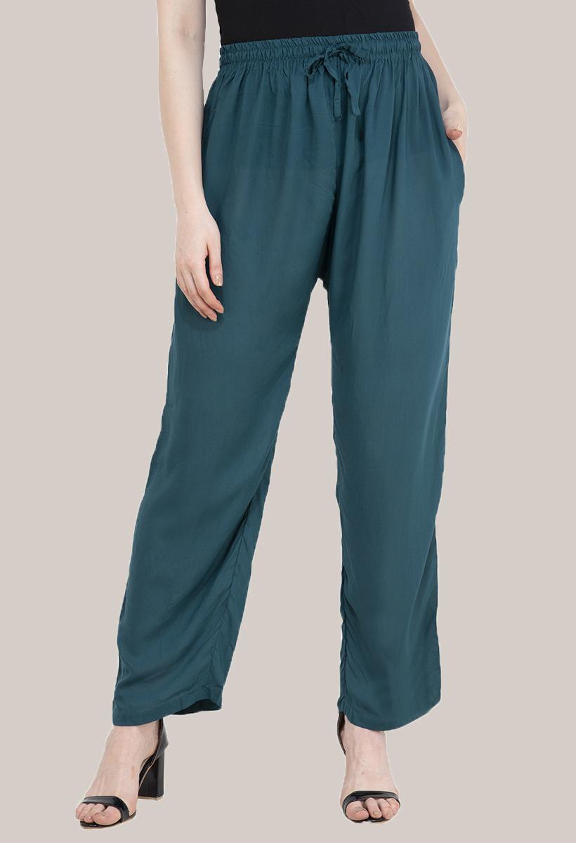 Green Rayon Pant-33486