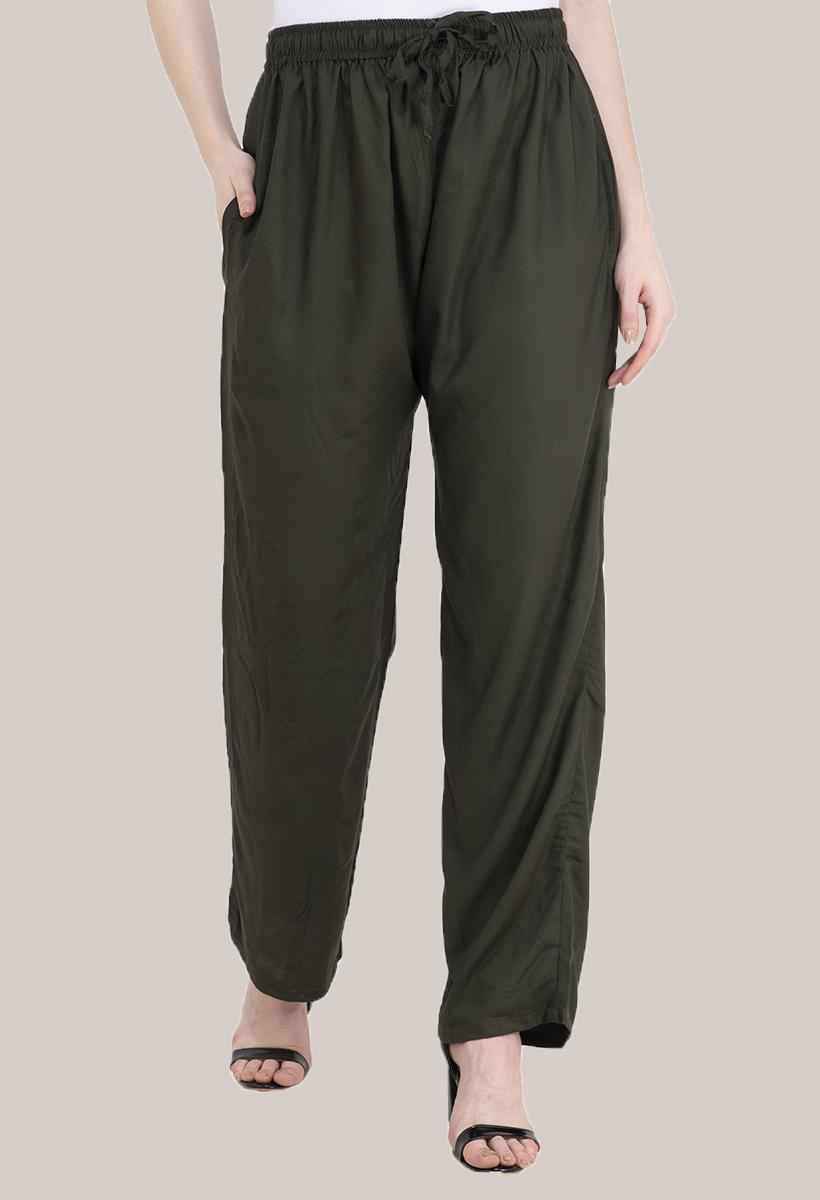 Green Rayon Pant-33488