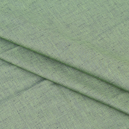 Khadi Shirt (2.25 Meter) Fabric-Green Two tone Handloom-140598