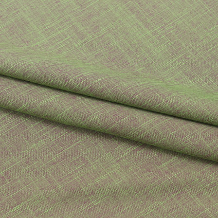Green Two tone Linen Cotton Fabric-40642