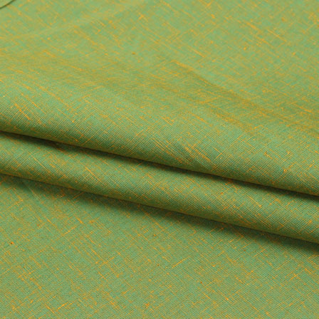 Green Two tone Linen Cotton Fabric-40648