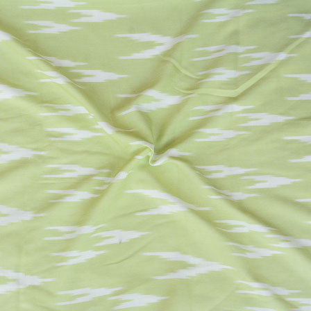Green White ikat two tone Rayon Fabric-15179