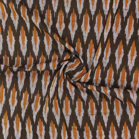 Green Yellow Ikat Cotton Fabric-12322