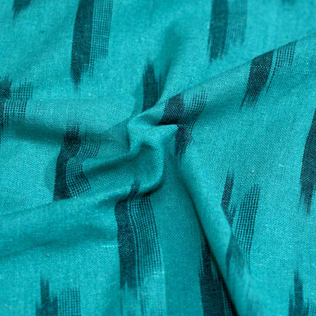Green and Black ikat fabric-5082
