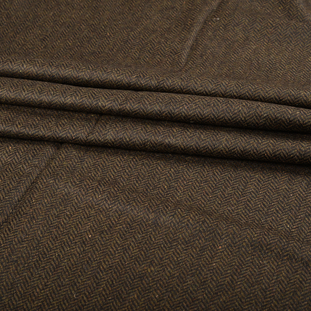 Pure Wool Blazer Fabric (2 MTR)  - Brown Tweed Wool-40315