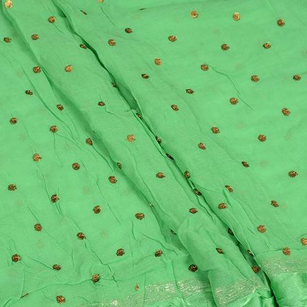 /home/customer/www/fabartcraft.com/public_html/uploadshttps://www.shopolics.com/uploads/images/medium/Green-and-Golden-Polka-Pattern-Embroidery-Chiffon-Georgette-Fabric-60383_1.jpg