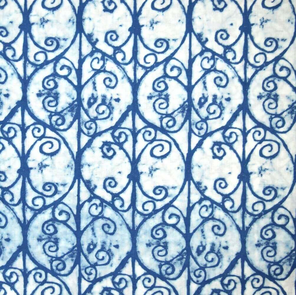 Buy indigo blue tie dye pattern indian cotton fabric by for Purchase fabric by the yard