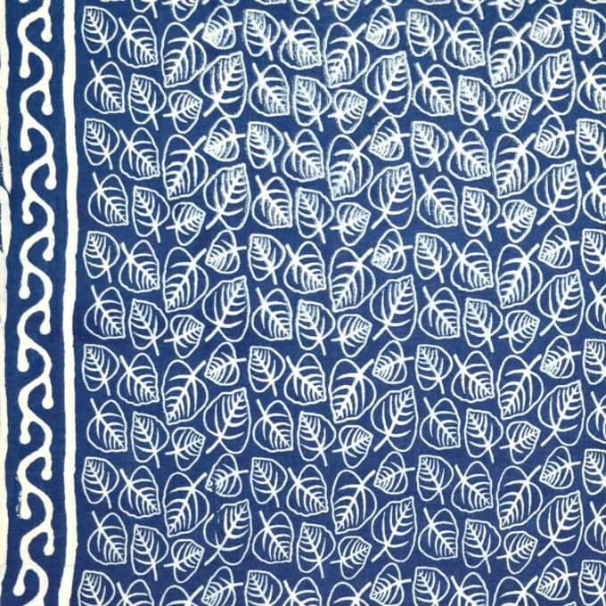 Indigo Blue traditional Print Fabric by the yard