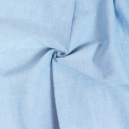 Light Blue Plain Handloom Cotton Samray Fabric-40097