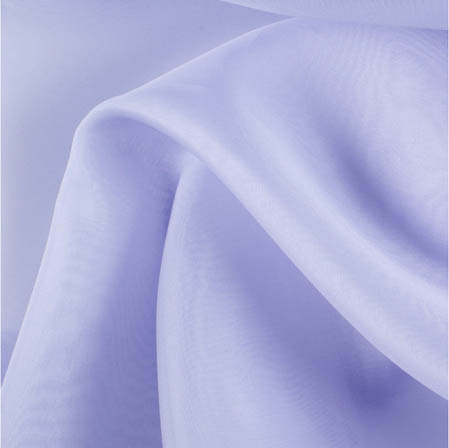 Light Blue Plain Organza Silk Fabric-51784