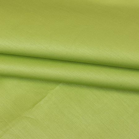 Light Green Plain Cotton Silk Fabric-16440