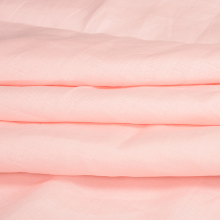Light Peach Plain Linen Fabric-90017