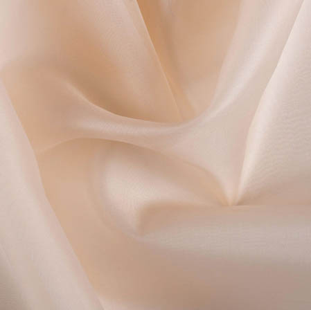 Light Pink Plain Organza Silk Fabric-51795