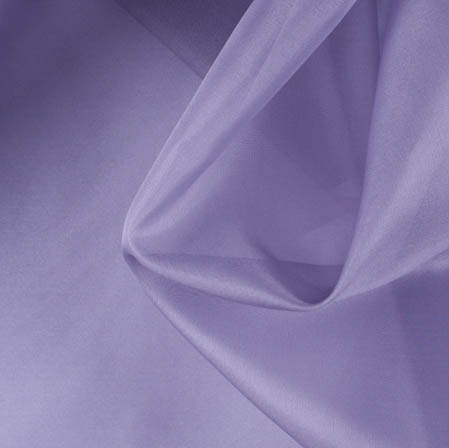 Light Purple Plain Organza Silk Fabric-51776