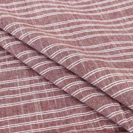 Light Purple White Stripe Handloom Cotton Fabric-40951