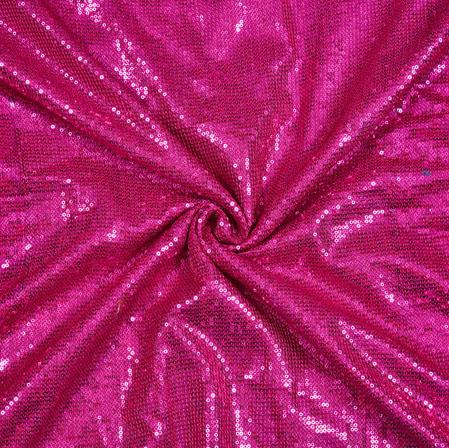 Magenta Pink Sequin Fabric-18874