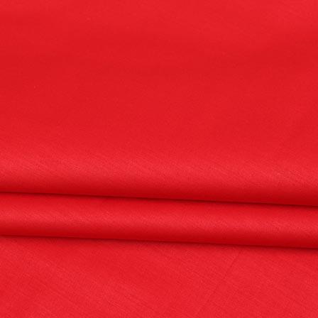 Magenta Pink Plain Cotton Silk Fabric-16438