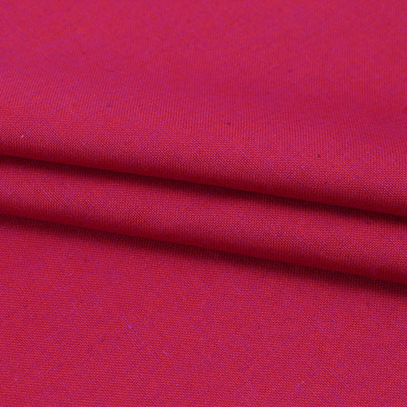 Magenta Pink Two tone Linen Cotton Fabric-40647