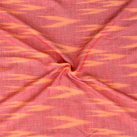 Maroon Orange ikat two tone Rayon Fabric-15177