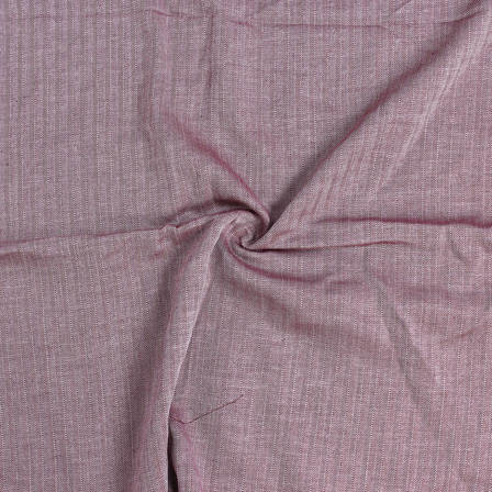Maroon Plain Handloom Heaing Bone Cotton Khadi Fabric-40114