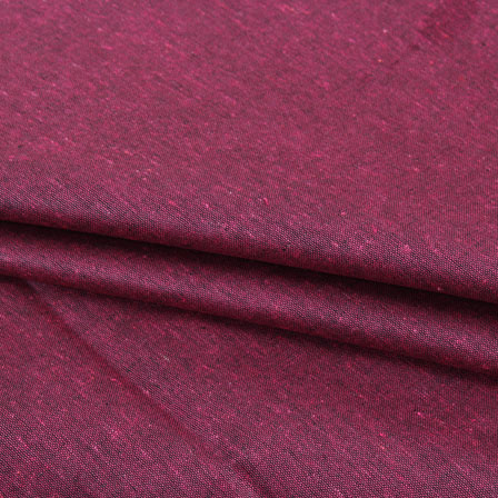 Maroon Plain Linen Cotton Fabric-40625
