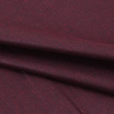 Maroon Plain Linen Cotton Fabric-40628