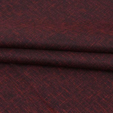 Maroon Plain Linen Cotton Fabric-40635