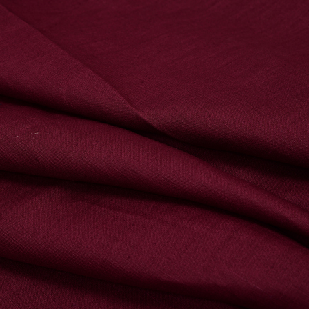 Maroon Plain Linen Fabric-90025