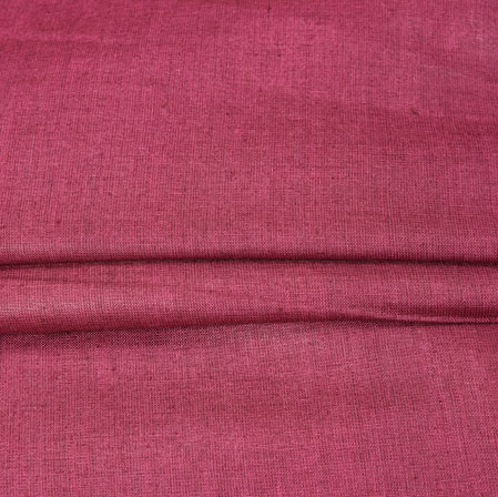 Maroon Plain Linen Fabric-90146