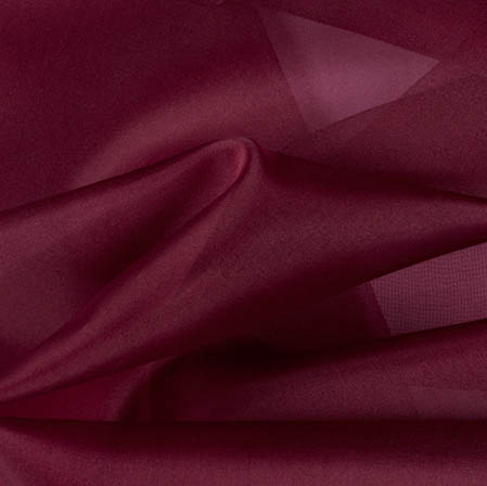 Maroon Plain Organza Silk Fabric-51791