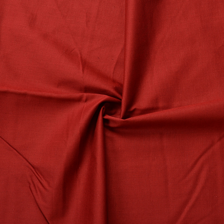 Maroon Plain Slub Cotton Handloom Fabric-40208
