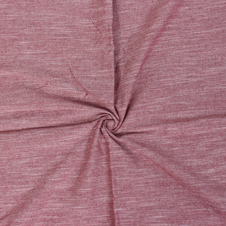 Maroon and White Viscose Cotton Samray Handloom Khadi Fabric-40082