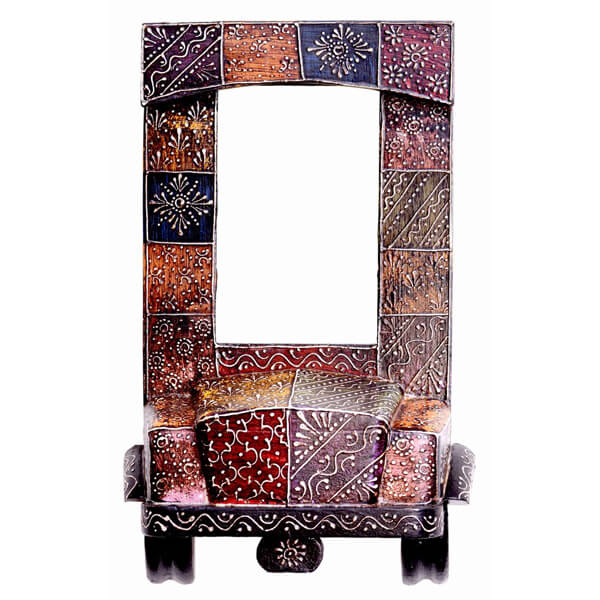 Multi Color White Wood Photo Frame