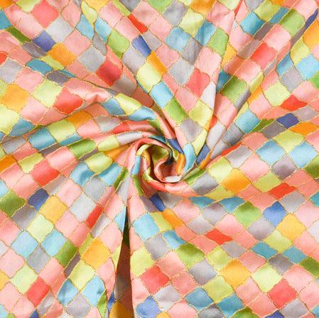 Multicolor Digital Position Print Chinon Fabric-19362