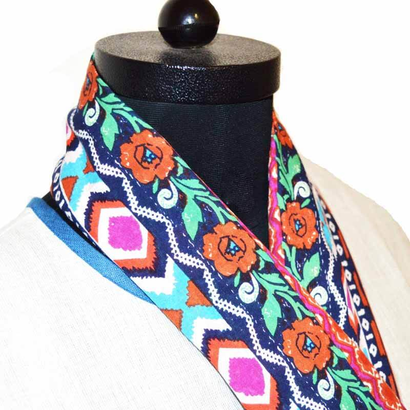 Multicolor Floral Printed Scarf for Womens
