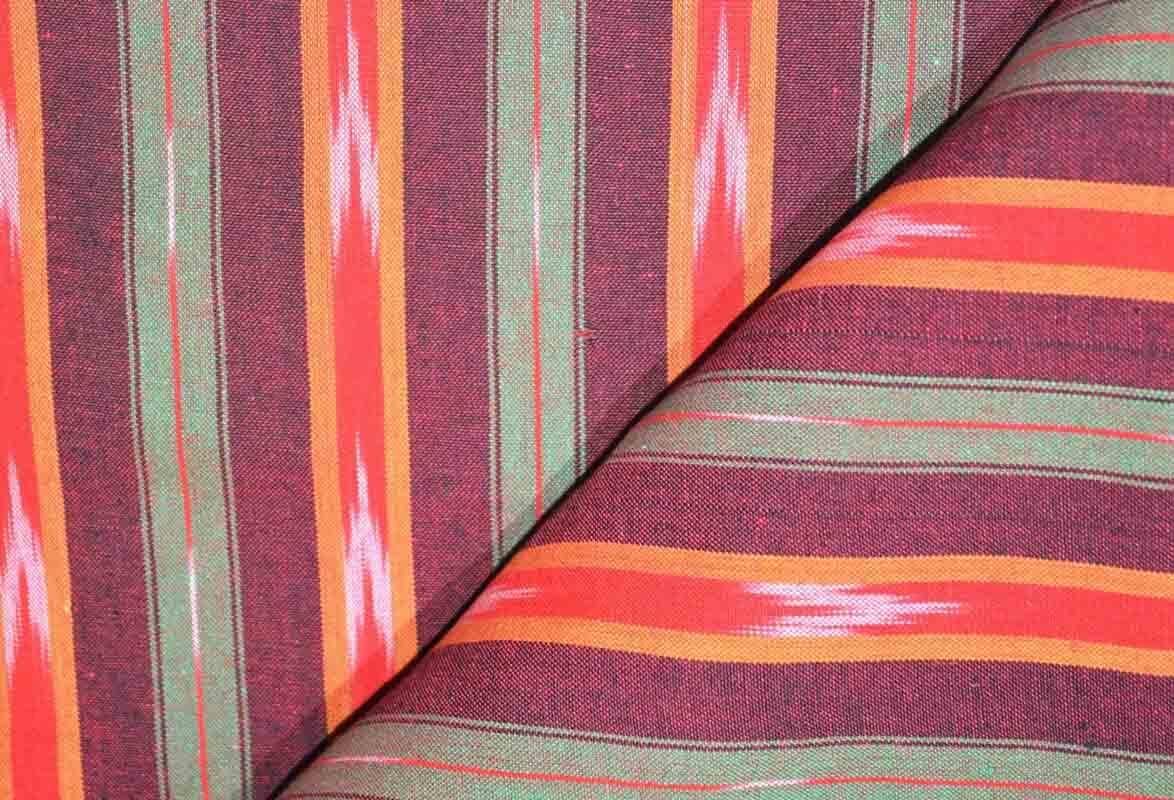 Multicolor Ikat Blouse Fabric