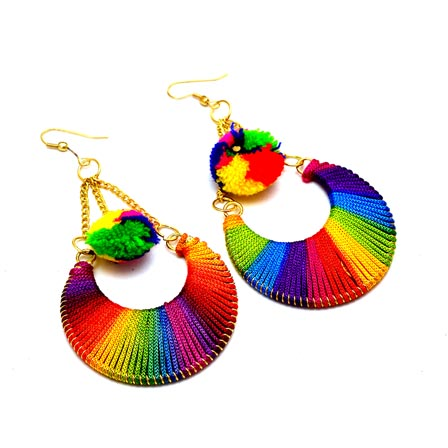 Multicolor Sike Handcrafted Drop Tassel Earring for Women