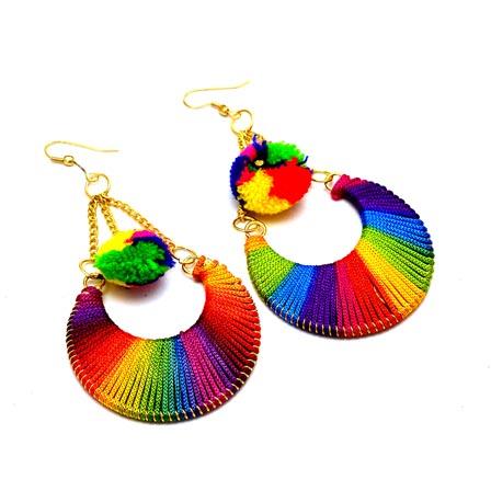 Multicolor Sike Handcrafted Drop Tassel Earring for Women