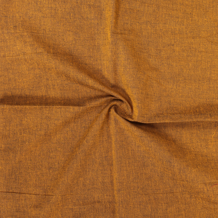 Mustard Yellow Cotton Samray Handloom Fabric-40063