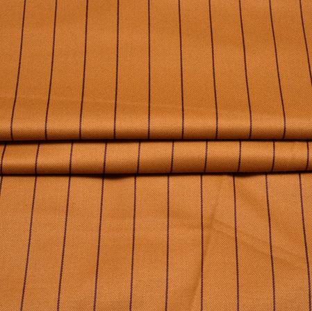 Mutsard Blue Stripe Wool Fabric-90192
