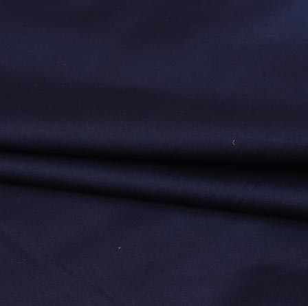 Navy Blue Plain Cotton Silk Fabric-16427