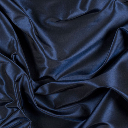 Navy Blue Silk Taffeta Fabric-6552