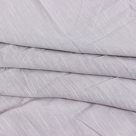 Off White Plain Slub Samray Handloom Fabric-40020