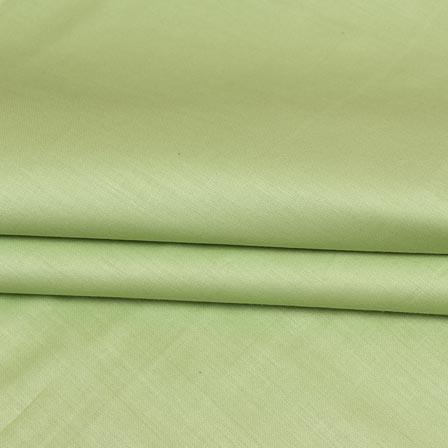 Olive Green Plain Cotton Silk Fabric-16456