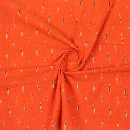 Orange Black Ikat Cotton Fabric-12339