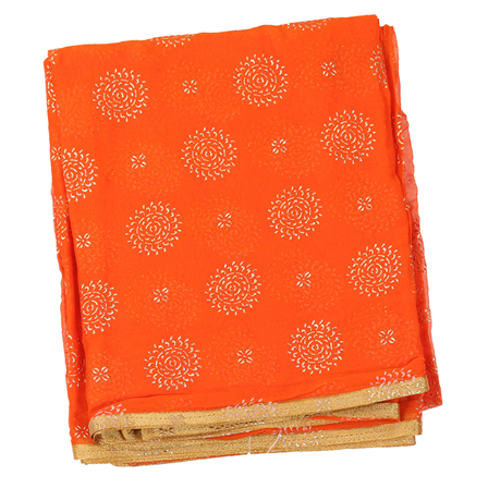 Orange Chiffon Fabric-29049