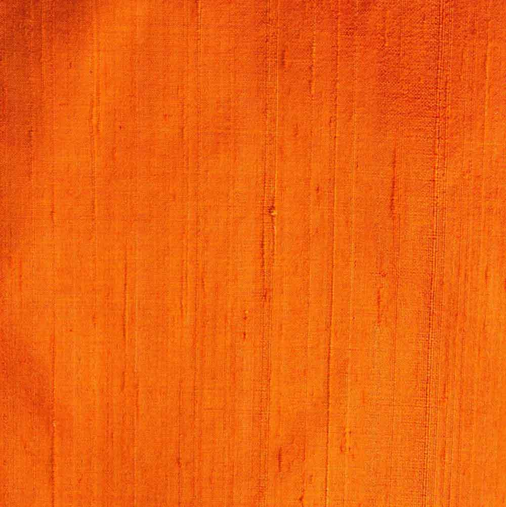 Orange Dupion Pure Raw Silk Fabric