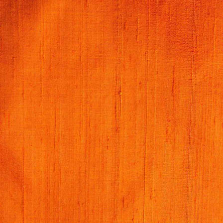 Orange Dupion Silk Running Fabric-4873