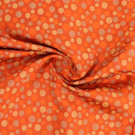 Orange Golden Jacquard Cotton Fabric-9016