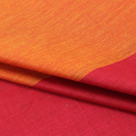 Cotton Shirt (2.25 Meter)-Orange Maroon Striped Handloom-140715